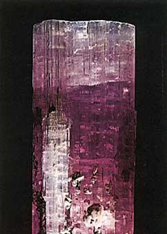 Elbaite Tourmaline Crystal from Laghman, Nuristan, Afghanistan photo image