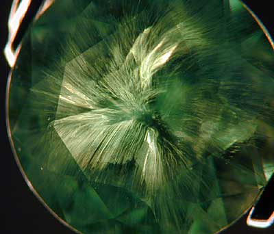 Horsetail Inclusion in Demantoid photo image