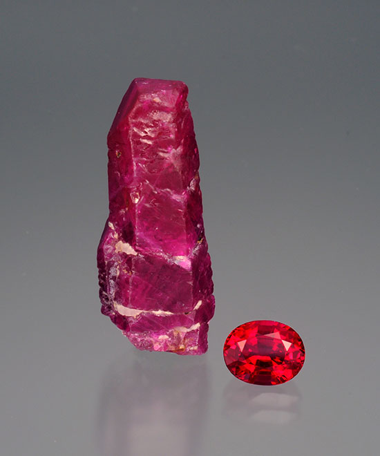 Rough And Cut Ruby photo image