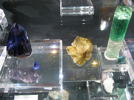 Tanzanian Tanzanite, Brazilian Chrysoberyl, and Afghani Tourmaline photo image