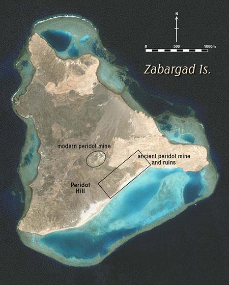 Zabargad satellite image