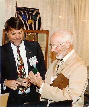 Bill Larson With Dr. Gubelin photo image