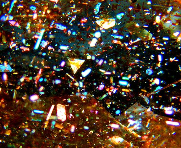 Sunstone Inclusion photomicrograph image