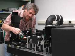 Dr. Downs and Raman Spectrometer photo image