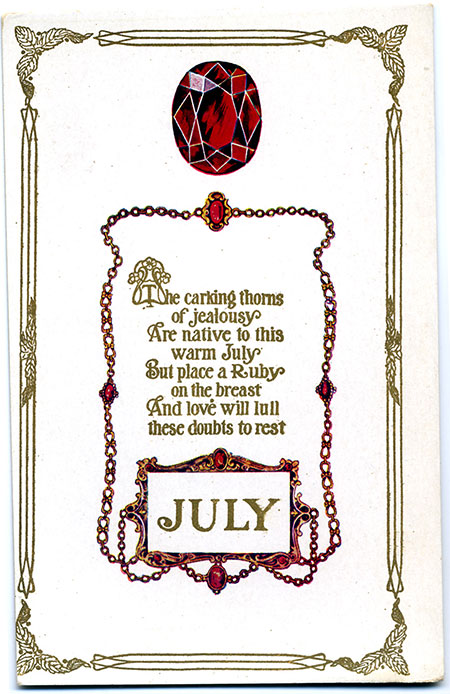 Birthstone card image