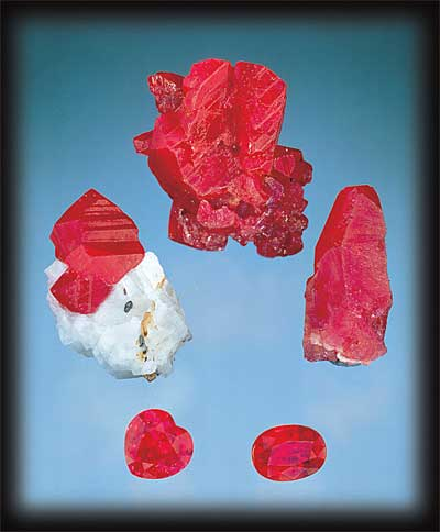 Rough and Faceted Rubies photo image