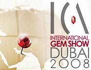 ICA International Gem Show Dubai 2008 logo image