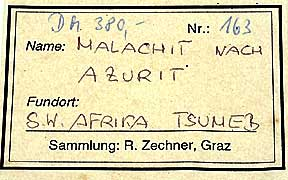 Malachite Label photo image