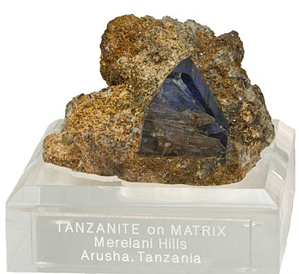 Tanzanite specimen photo image
